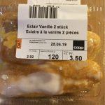 Éclair à la vanille (2 pc.)