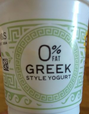 0% Fat Greek Style Yogurt