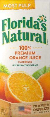 100% Premium Orange Juice Most Pulp