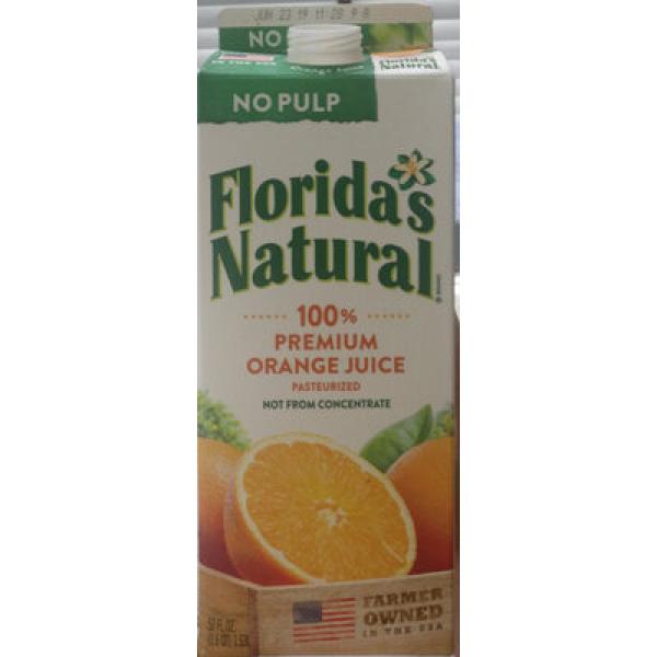 100% Premium Orange Juice No Pulp
