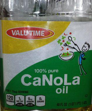 100% Pure Canola Oil