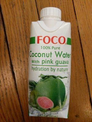 100% Pure Coconut Water With Pure Guava