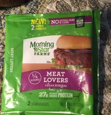 1/4 lb meat lovers vegan burgers