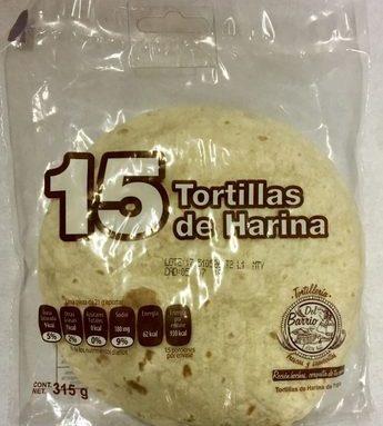 15 Tortillas de Harina