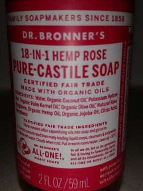 18-in-hemp rose pure-castile soap