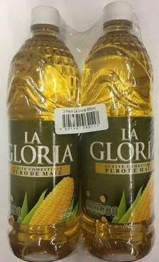 2 Pack Aceite de maíz La GLoria 850 ml
