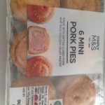 6 mini pork pies