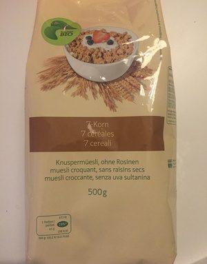 7 céréales muesli croquants sans raisins secs