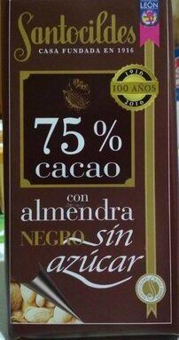 75% cacao con almendra negro sin azucar