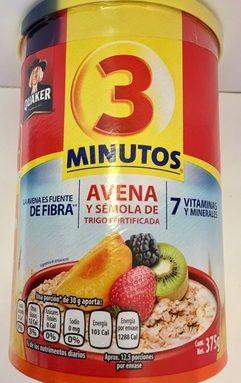 AVENA 3 MINUTOS QUAKER