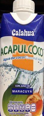 Acapulcoco con jugo de Maracuyà
