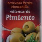 Aceitunas Verdes Manzanilla rellenas de pimiento