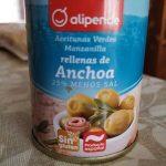 Aceitunas manzanilla rellenas anchoa