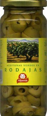 Aceitunas verdes en rodajas