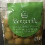 Aceitunas verdes sin hueso en manzanilla