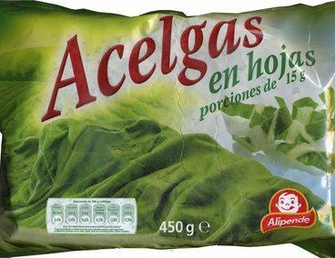 """Acelgas en hojas congeladas """"Alipende"""""""
