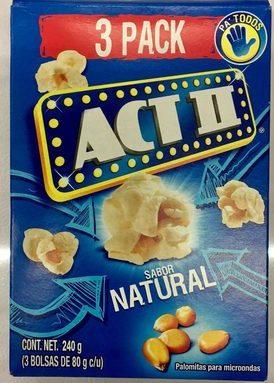 Act II 3 pack sabor natural