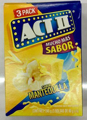 Act II sabor Mantequilla 3 Pack