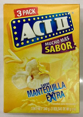Act II sabor Mantequilla Extra 3 Pack
