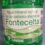 Agua mineral natural  Fontecelta