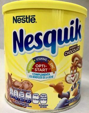 Alimento en polvo para preparar bebida sabor a chocolate