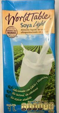 Alimento líquido de soya ultrapasteurizado sin azúcar