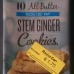 All Butter Reduced Fat Stem Ginger Cookies