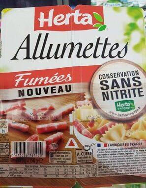 Allumettes fumées sans nitrite
