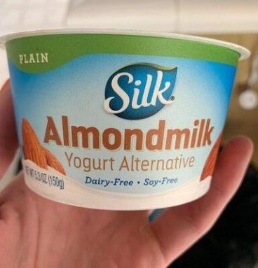 Almond milk yogurt alternative