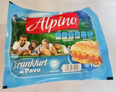 Alpino Salchicha Frankfurt de pavo