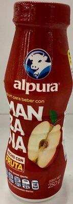 Alpura Yoghurt para beber con Manzana