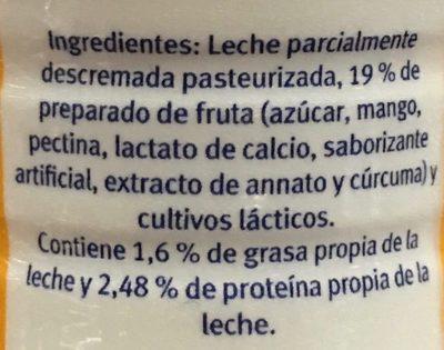 Yoghurt para beber con mango