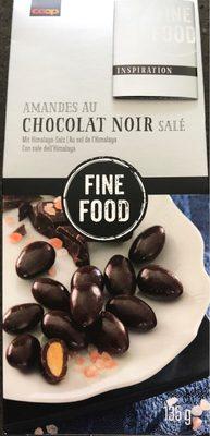 Amandes au chocolat noir salé