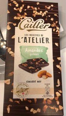 Amandes grillees - chocolat noir