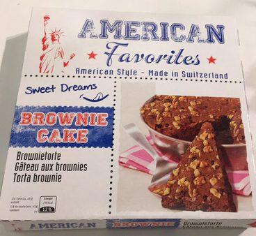 American Favorites Brownie Cake