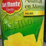 Ananas en morceaux au jus