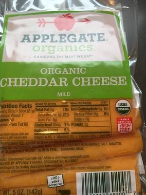 Applegate cheddar cheese