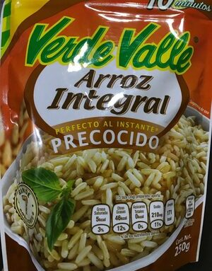 Arroz Integral Preocido Verde Valle