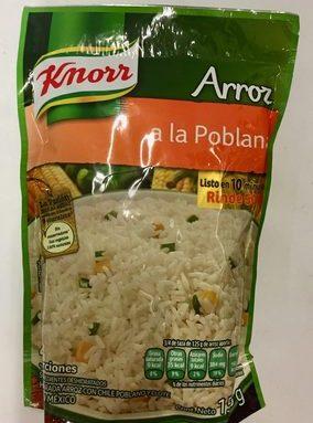 Arroz a la poblana Knorr