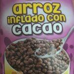 Arroz inflado con cacao