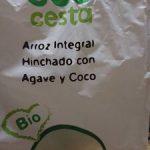 Arroz integral hinchado con agave y coco