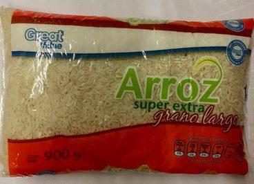 Arroz super extra grano largo Great Value