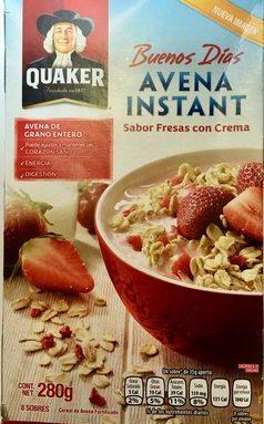 Avena Instant sabor fresas con crema