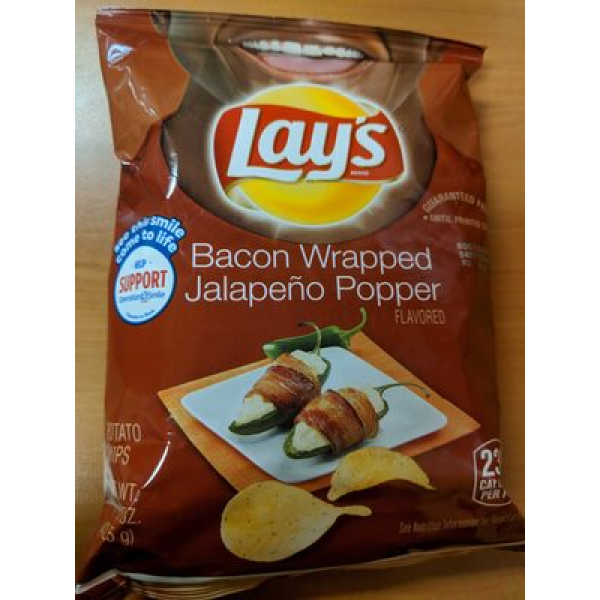 Bacon Wrapped Jalapeño Popper Flavored Potato Chips
