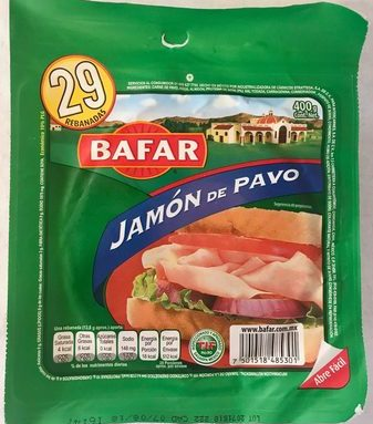 Bafar jamón de pavo