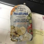 Bagel chips and cream cheese dip