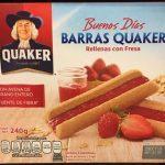 Barras Quaker rellenas con fresa