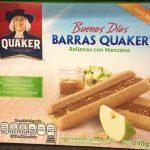 Barras Quaker rellenas con manzanas