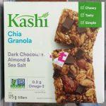 Barres granola au chia chocolat noir