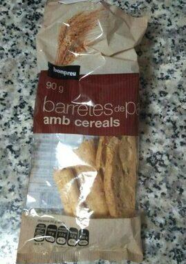 Barretes de pa amb cereals